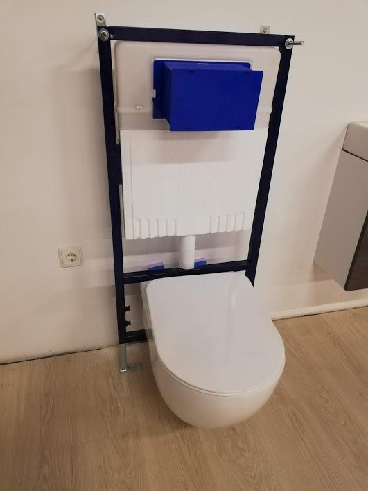 WC inkl. Bidet-Funktion + Gestell